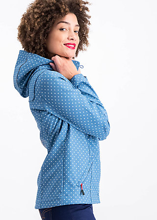 wild weather petite anorak, little dots, Jacken, Blau