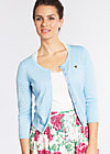 wonderwaist cardy, light blue holes, Cardigans, Blau