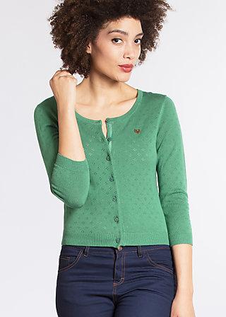 wonderwaist cardy, green holes, Pullover & leichte Jacken, Grün