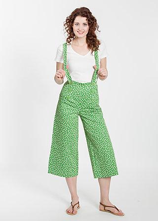 dreierhopp culotte, fresh lot dots, Hosen, Grün