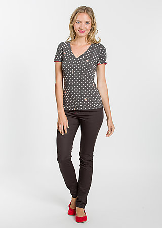 fresh and free tee, rhythmic dots, Shirts, Schwarz