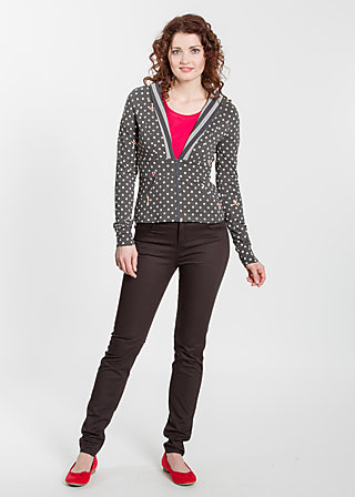 hiddensee skipper zip, rhythmic dots, Cardigans, Schwarz