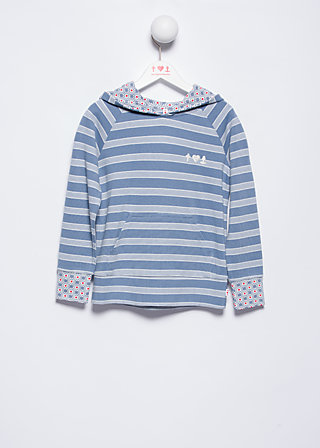käptns hoody, stripe the waves, Pullovers, Blau