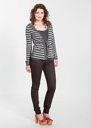 klappfix cardigan, sporting stripes, Cardigans, Schwarz