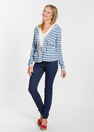 klappfix cardigan, stripe the waves, Cardigans, Blau