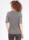 poloholic pololux tee, rhythmic dots, Shirts, Schwarz