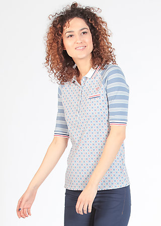 poloholic pololux tee, swim and trim, Shirts, Blau