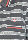 popgymnastik polodress, sporting stripes, Kleider, Schwarz