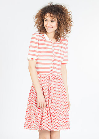 popgymnastik polodress, consumer stripes, Jerseykleider, Weiß