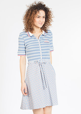 popgymnastik polodress, stripe the waves, Kleider, Blau