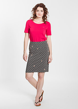 slender tendrill skirt, rhythmic dots, Röcke, Schwarz
