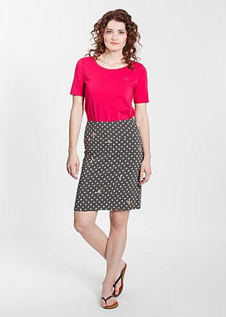 slender tendrill skirt, rhythmic dots, Jerseyröcke, Schwarz