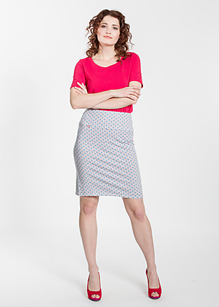 slender tendrill skirt, swim and trim, Jerseyröcke, Blau