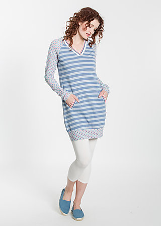 sportsfreund longsweat, stripe the waves, Pullover, Blau