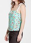tawarisch top, floral promotion, Shirts, Türkis