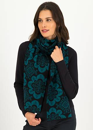 Knitted Scarf bohemian tales, carpet candy, Accessoires, Turquoise