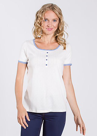 alva in love  shirt, virgin white, Kurzarm, Weiß