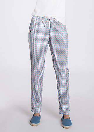 careless lightweight pants, swedish tiles, Hosen, Blau