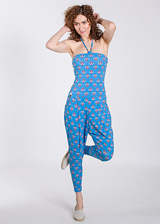 jantelag jumpsuit, blue blommor, Hosen, Blau