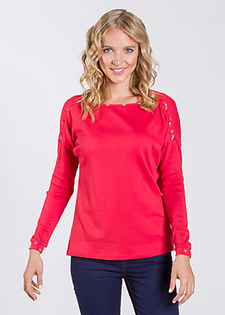 kleiner onkel pullover, rich red, Pullovers, Rot