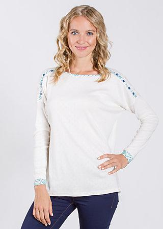 kleiner onkel pullover, virgin white, Pullover, Weiß