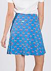 very me volanterie skirt , blue blommor, Jerseyröcke, Blau