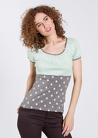 waschtisch romance top, liten blooma, Shirts, Grau