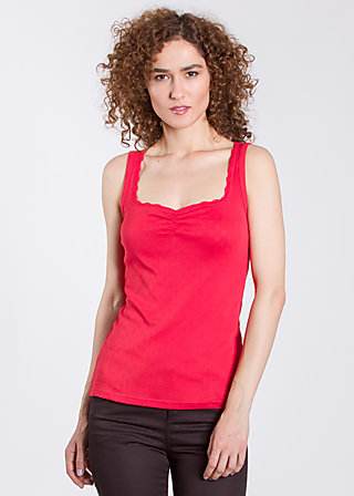 white night carré top, rich red, Tops, Rot