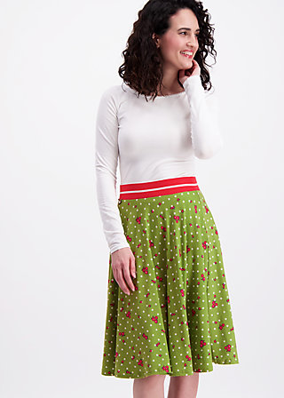 daddys girl skirt, sweet flower dots, Jerseyröcke, Grün