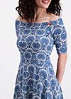 deetas dolce vita dress, leaf of paradise, Jerseykleider, Blau
