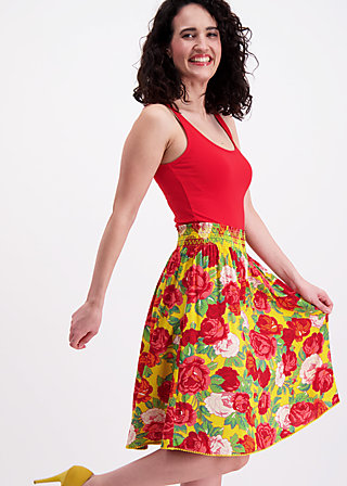 do you love me skirt, roses of joy, Webröcke, Gelb