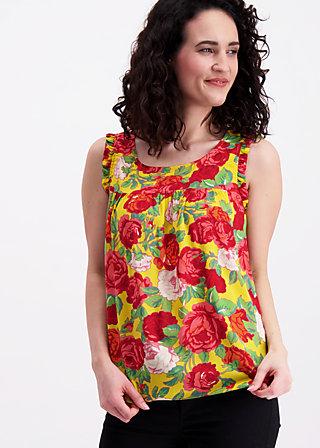 kilauea tete a tete top, roses of joy, Shirts, Gelb