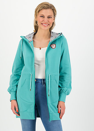 aura paramour jacket, aqua blue, Jumpers & lightweight Jackets, Turquoise