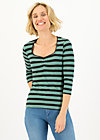 Shirt breton heart, black graphite stripes, Shirts, Schwarz