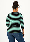 breton heart tee, black graphite stripes, Shirts, Schwarz