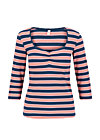 Shirt breton heart, majolica blue stripes, Shirts, Blau