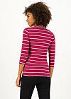 breton heart tee, morning glory stripes, Shirts, Red