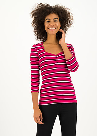 breton heart tee, morning glory stripes, Shirts, Red