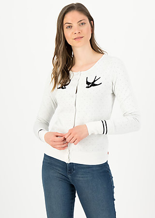 Cardigan lucky swallow, white swallow, Cardigans & leichte Jacken, Weiß