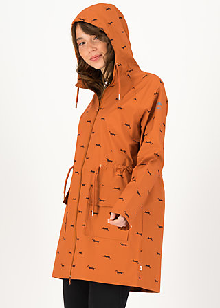 Raincoat Eco regenmantel friese, sausage dog, Jackets & Coats, Brown