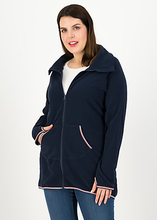 Fleecejacke extra layer hooded, uni blue, Jacken & Mäntel, Blau