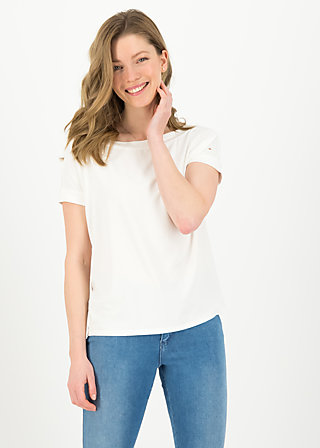 Basic Top flowgirl, white summer, Shirts, White