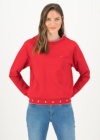 Sweatshirt fresh 'n' fruity, go red go, Pullover & Sweatshirts, Rot