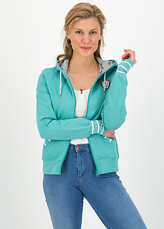 good morning bakerstreet zip, aqua blue, Jumpers & lightweight Jackets, Turquoise