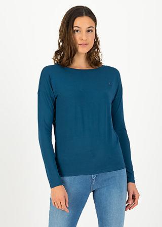 logo flow slow longsie, harbor blue, Shirts, Türkis
