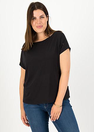 logo flowgirl tee, misty black, Shirts, Black
