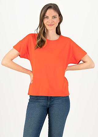 logo flowgirl tee, morning red, Shirts, Rot