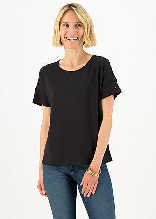 logo flowgirl tee, pure black, Shirts, Schwarz
