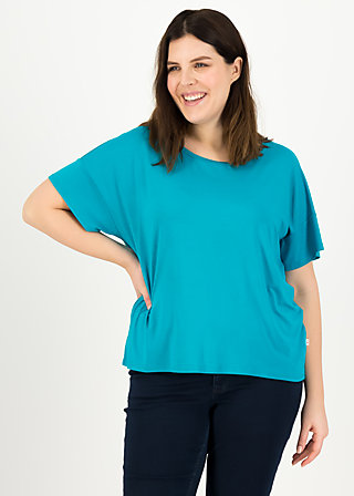 logo flowgirl tee, tile blue, Shirts, Blau