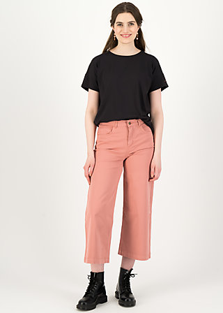 logo high waist culotte, old rose, Trousers, Pink